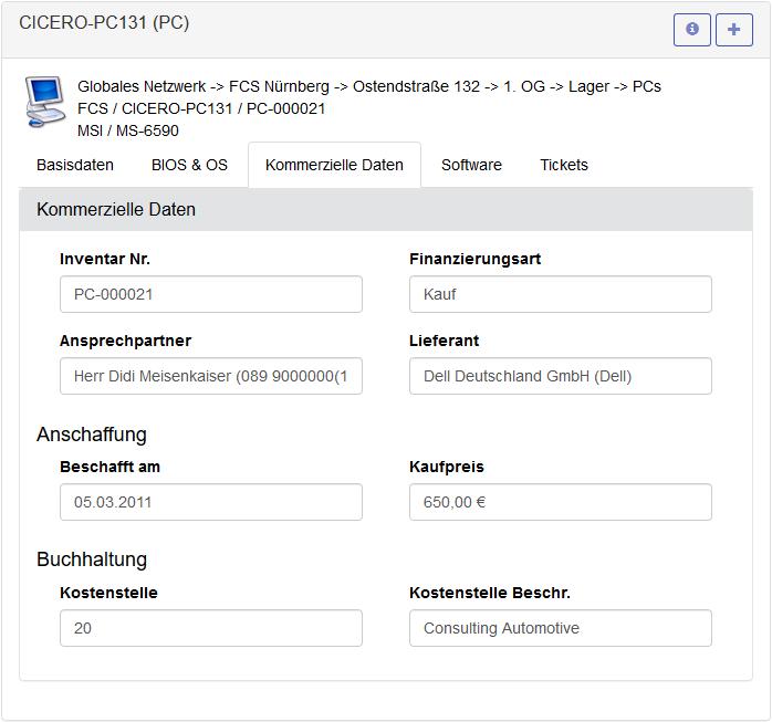 HEINZELMANN User Helpdesk Assets anlegen und verwalten